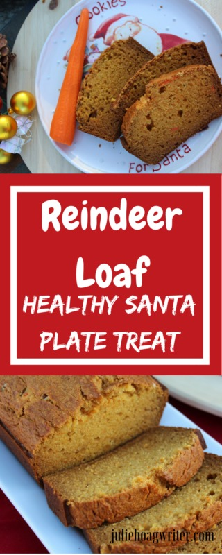 Reindeer Bread Healthy Santa Plate Treat for Christmas Eve. Moist holiday bread