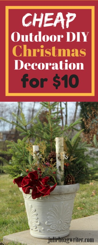 Cheap Outdoor DIY Christmas Decoration Frugal Holiday decorating