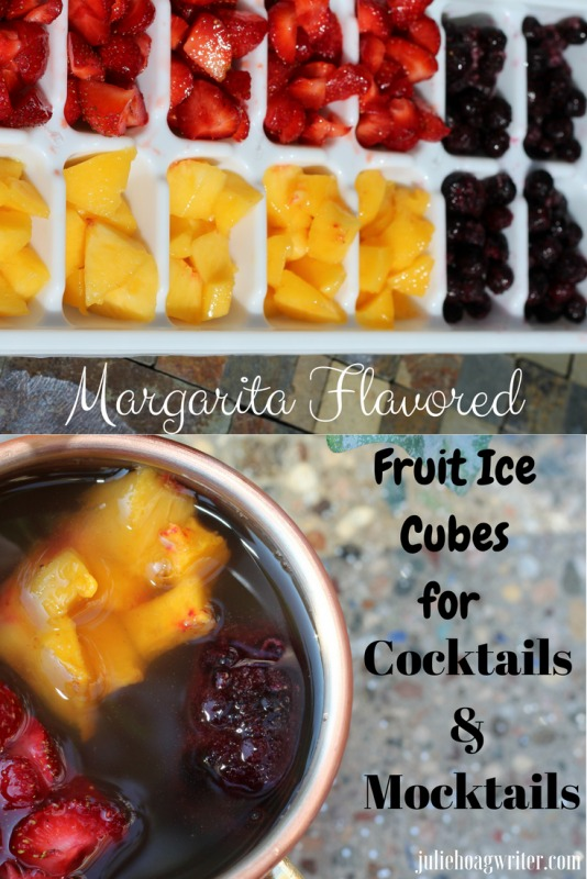 Margarita Flavored Fruit Ice Cubes for Cocktails and Mocktails for a refreshing beverage to relax with during leisure time.