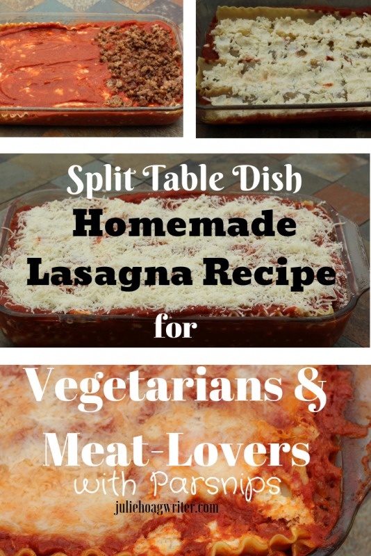 Hybrid Homemade Lasagne Recipe for a Split Table of Vegetarians & Meat-Lovers meal
