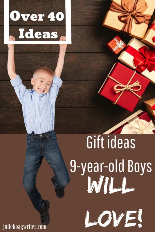 Hoiday gifts for 9-year-old boys, Christmas presents for boys. Holiday shopping for a son. Gift guide for boys with educational toys, active toys, books, and creativity toys.