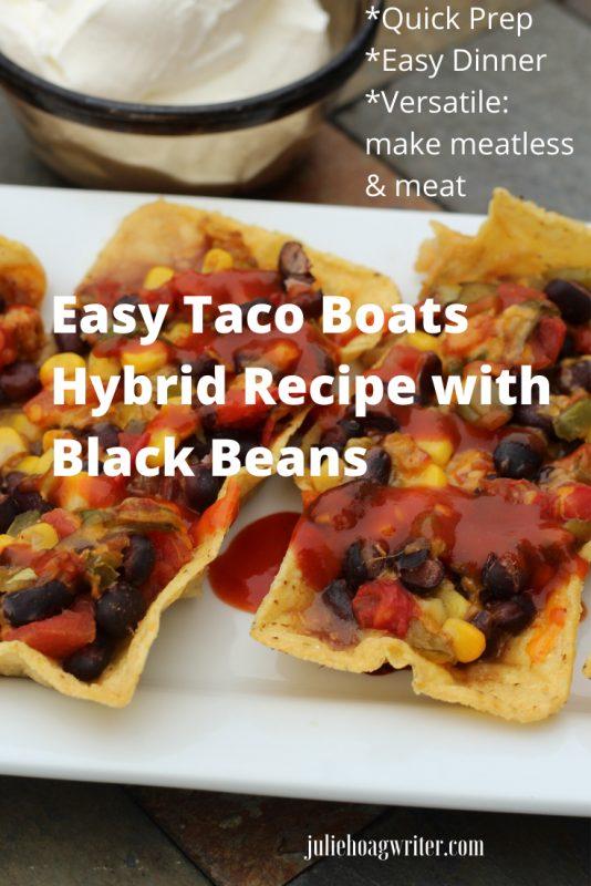 Easy Taco Boats Hybrid Recipe with Black Beans
