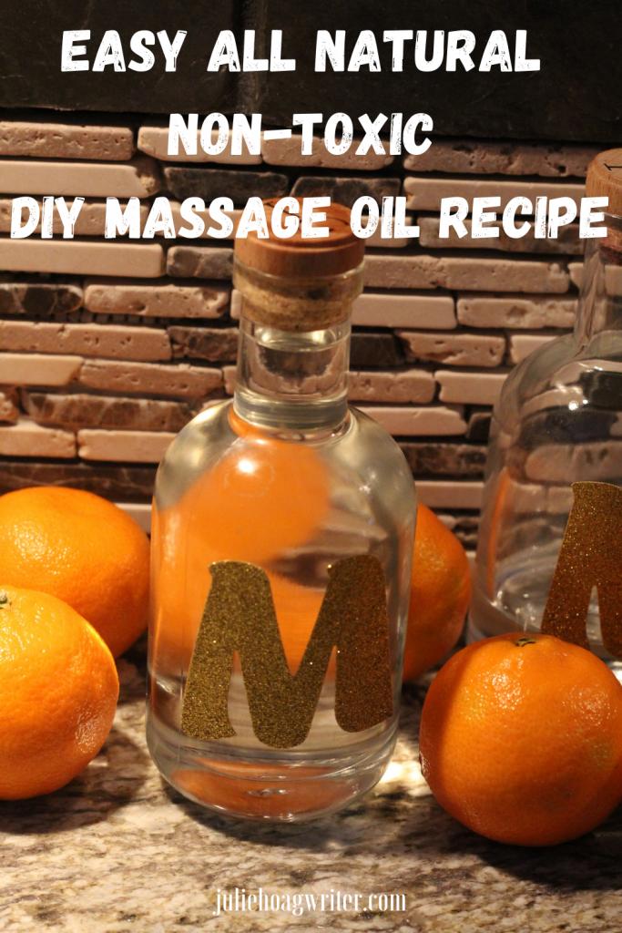 All Natural non-toxic DIY Massage Oil Recipe