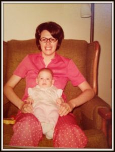 Nostalgic photo of my mom and me as a baby