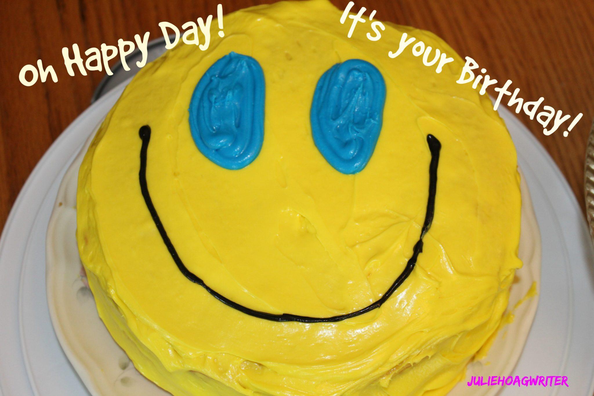 Smiley Cake Birthday A Family Lifestyle Food Blog