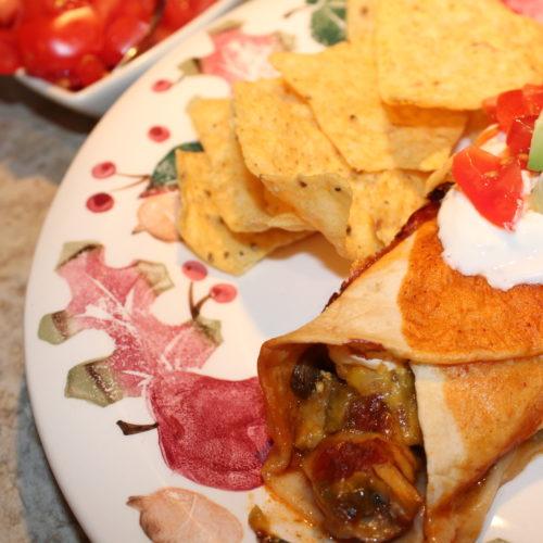 Vegetarian OR Chicken Enchiladas as a Hybrid Meal