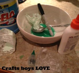 Mess from crafts