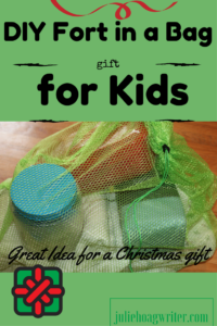 DIY Fort in a Bag for Kids, a great homemade Christmas gift