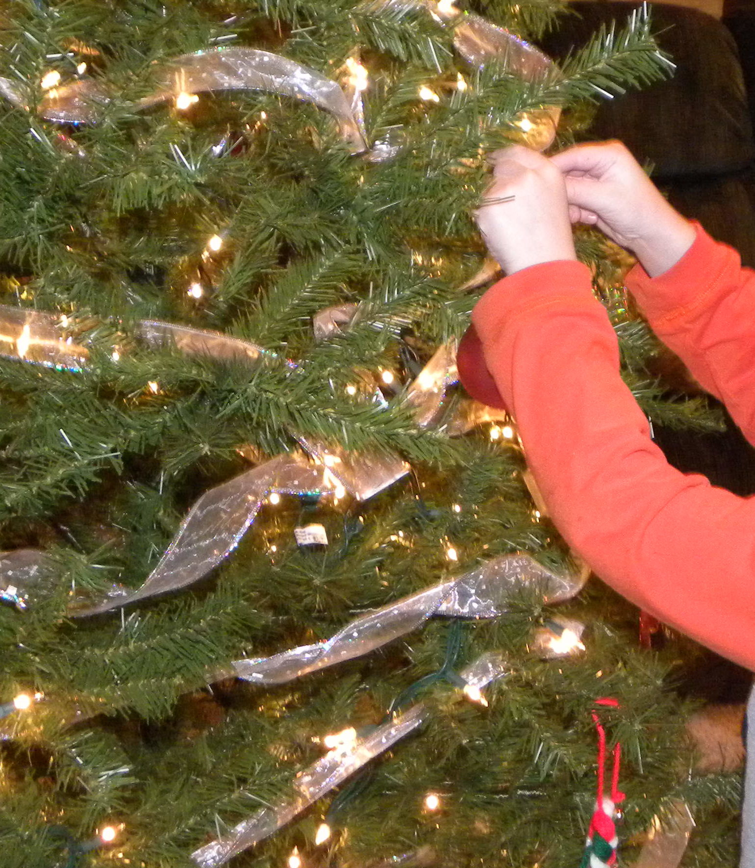 Decorating the Christmas tree. parenting in faith. God at work in our lives.