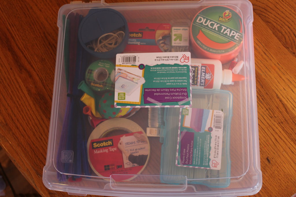 DIY Craft Bin for boys ages 7-11