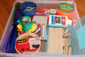 DIY Craft bin for boys. DIY-Craft-Bin. DIY gifts.