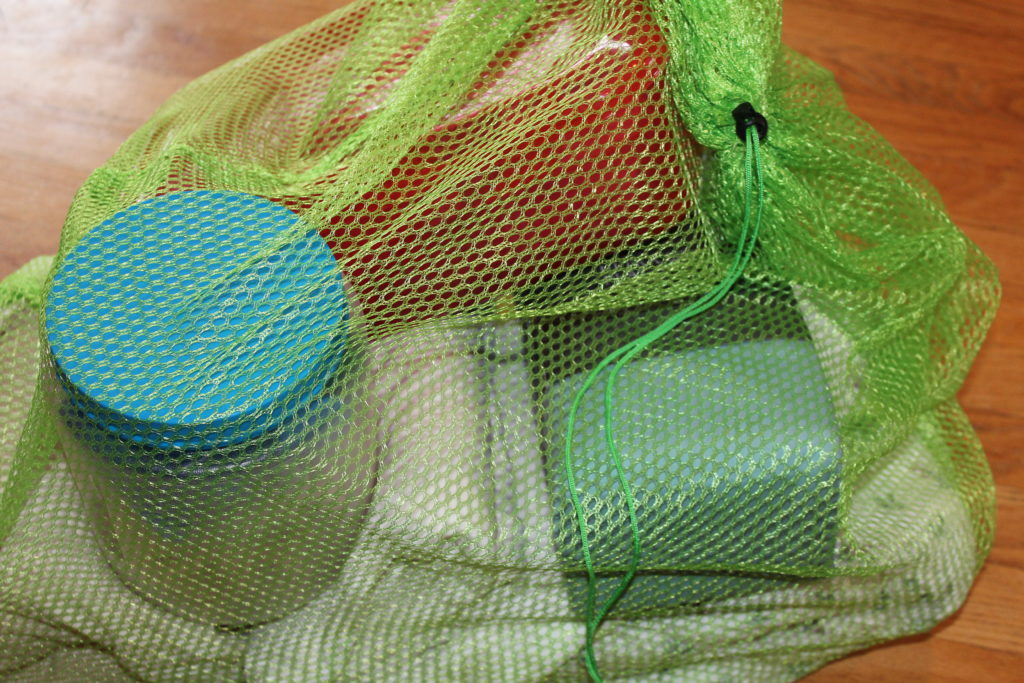 DIY Fort in a Bag supplies in the bag