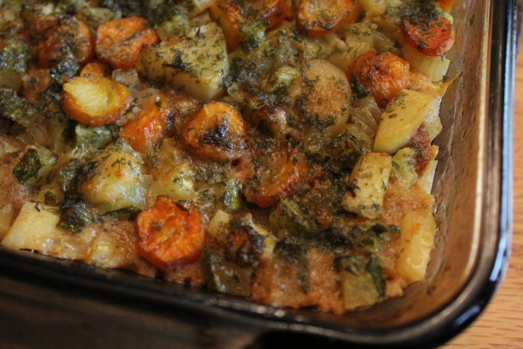Veggie Stew Casserole with Easy Whole Wheat Dumplings