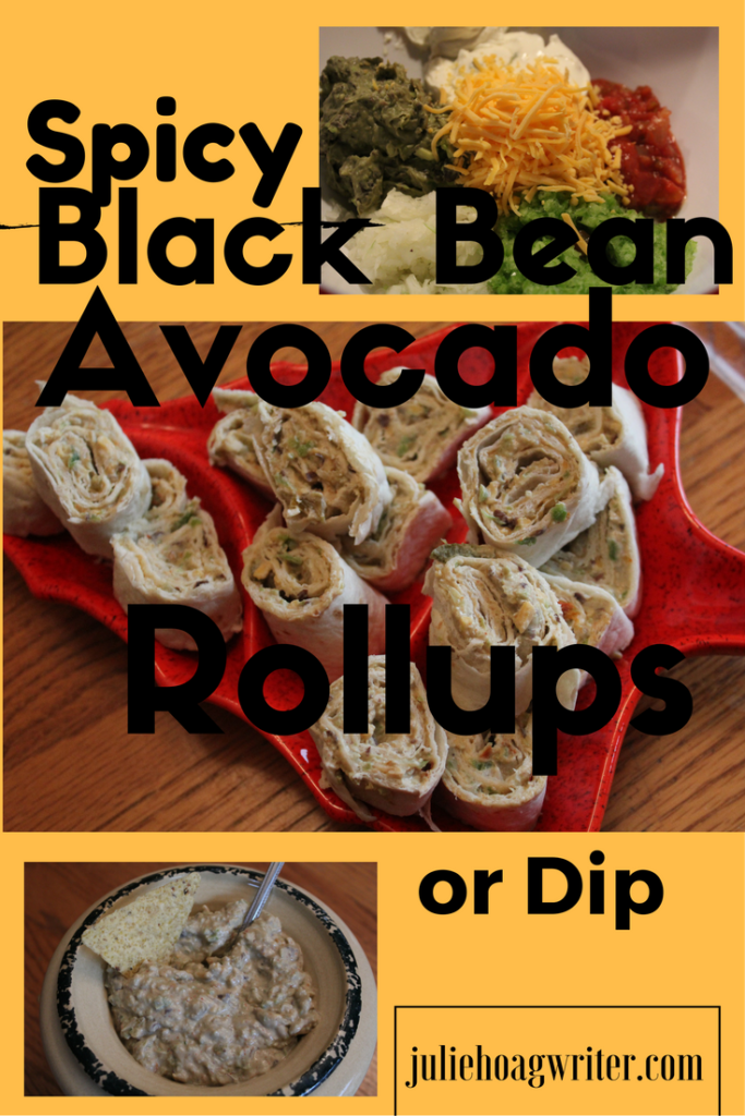 Spicy Black Bean Avocado Roll-ups or Dip