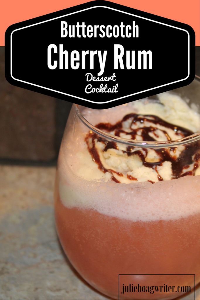 Butterscotch Cherry Rum Dessert Cocktail, an easy to make special yummy treat for adults.