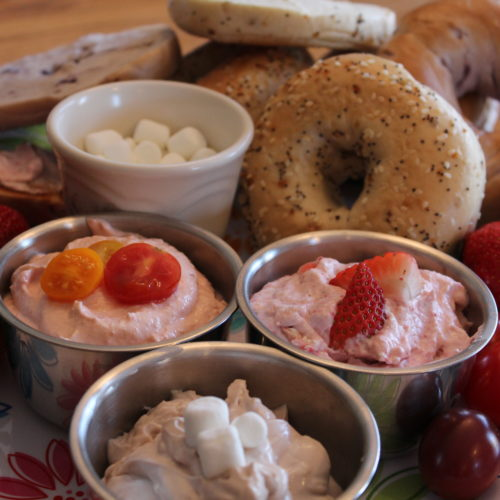 Flavored Cream Cheese Bagel Breakfast Bar