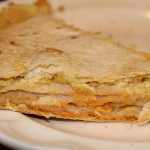 Hummus Artichoke Tortilla Stack Sandwich