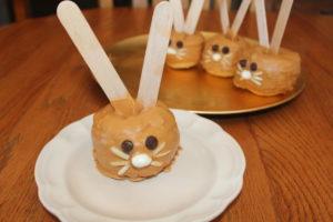 Peanut Butter Butterscotched Apple Bunnies