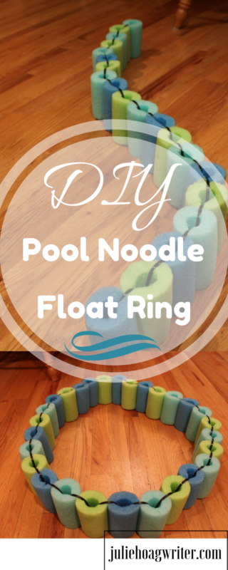 Do you have noodles with bite marks and cracks in them at your house? Instead of tossing them out continue to use the noodles by making them into a DIY Pool Noodle Float Ring. We had noodles with bite marks in them, cracks, and splits. After awhile they just wear out and start to fall apart, but often only some of the noodle wears out and the rest is still good. Cut up the good parts of the noodle and make a new fun float ring for the kids. Your kids will love it! These are unique and fun plus it's always wonderful to reuse rather than throw away.