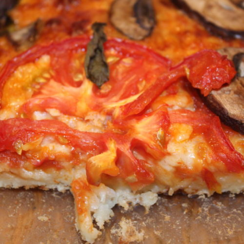 HIdden Cauliflower Crust Margheria Pizza recipe is so delicious! For those who dislike cauliflower, you can't even taste it in this recipe. Added hidden veggies inside the crust adds fiber and healthy fiber to this pizza.
