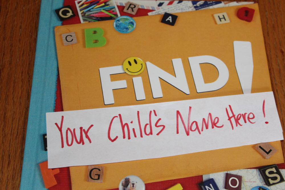 Personalize this finding book with your child's name. Your child will feel special to have a book where their face and name are included throughout the book.