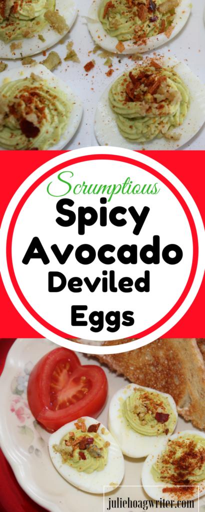 Scrumptious Spicy Avocado Deviled Eggs