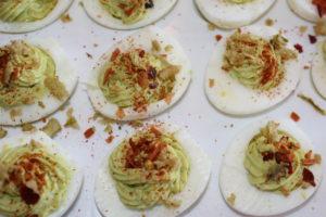 Sprinkle taco seasoning on eggs