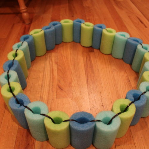DIY Pool Noodle Float Ring