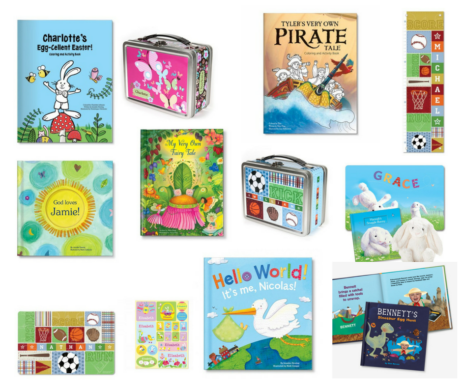 Collection of Personalized Books and Gifts for Children