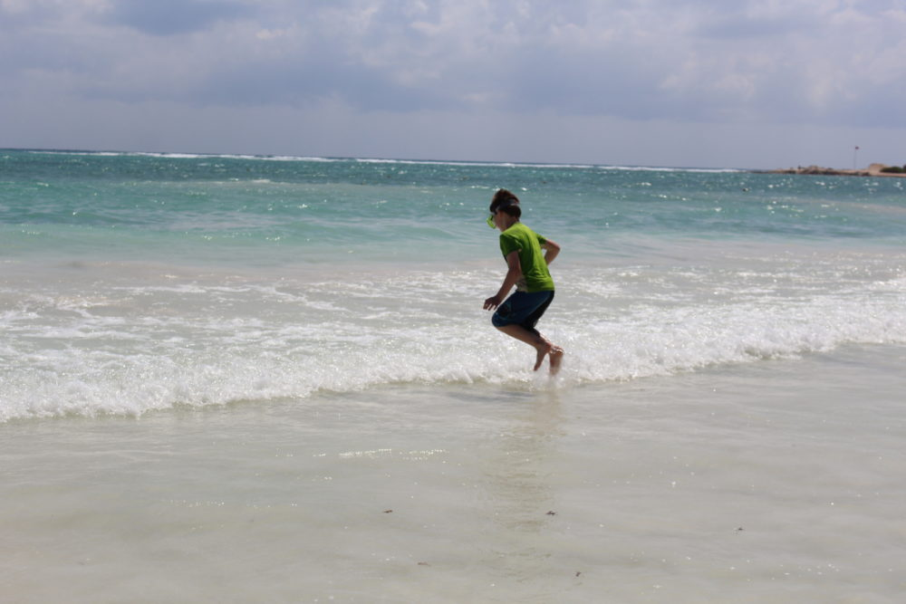 Jumping the ocean waves in Mexico!
