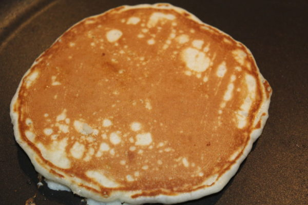Easy Homemade Comfort Food Butter Pancake in frying pan