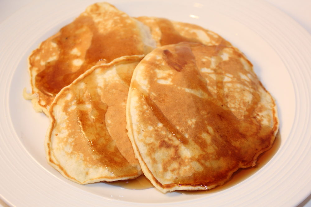 Easy Homemade Comfort Food Butter Pancakes an easy recipe for breakfast or brunch. This recipe is made without oil and it is a quick prep and a fast meal to prepare for busy families. #breakfastrecipes #breakfastlovers #brunch #brunchideas #easyrecipes #butter #comfortfood #pancakes #homemade #homemaderecipes #juliehoagwriter #familyfavorites
