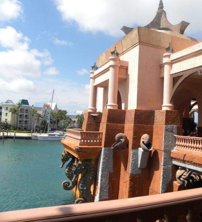 Amazing Stone Seahorse Statues at Atlantis Paradise Island Resort in the Bahamas