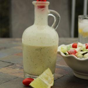 Tangy-Homemade-Cilantro-Lime-Salad-dressing-recipe #salad #EasyRecipes #sidedish fresh homemade dressing