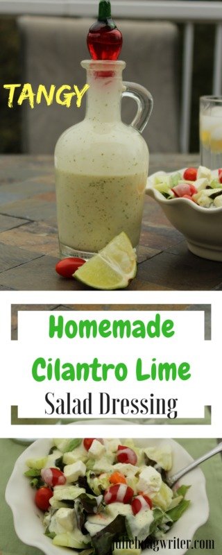 Tangy-Homemade-Cilantro-Lime-Salad-dressing-recipe side dishes easy | salad | salad dressing homemade | cilantro lime dressing | make your own salad dressing | #EasyRecipes
