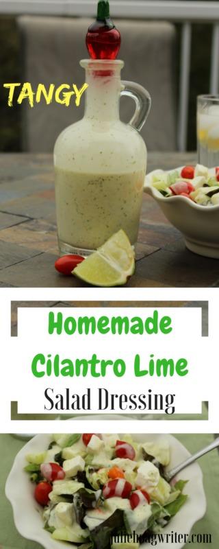 Tangy-Homemade-Cilantro-Lime-Salad-dressing-recipe side dishes easy | salad | salad dressing homemade | cilantro lime dressing | make your own salad dressing | #EasyRecipes