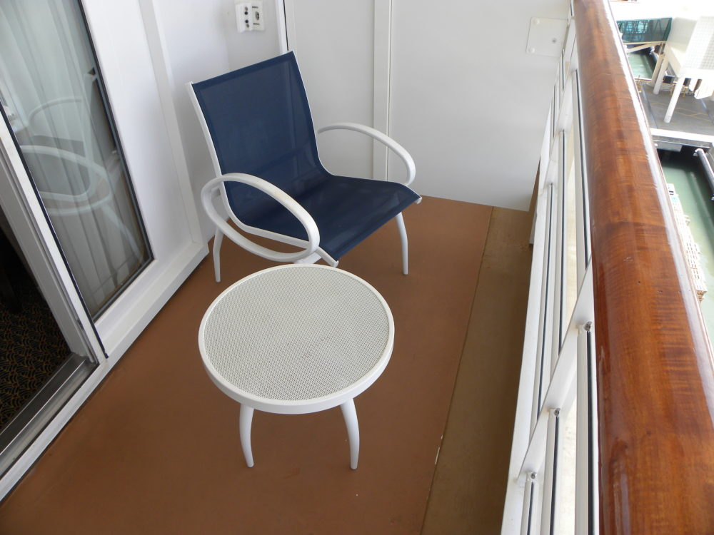 Balcony off stateroom