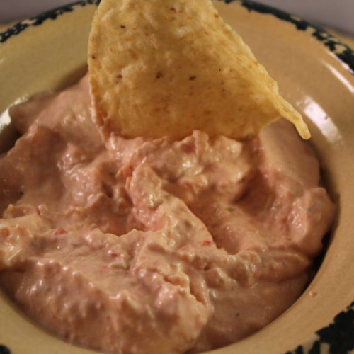 Easy 5-Minute 2-Ingredient Tomato & Chilis Cheese Dip
