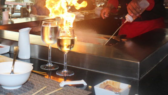 Flame at Japanese restauarant