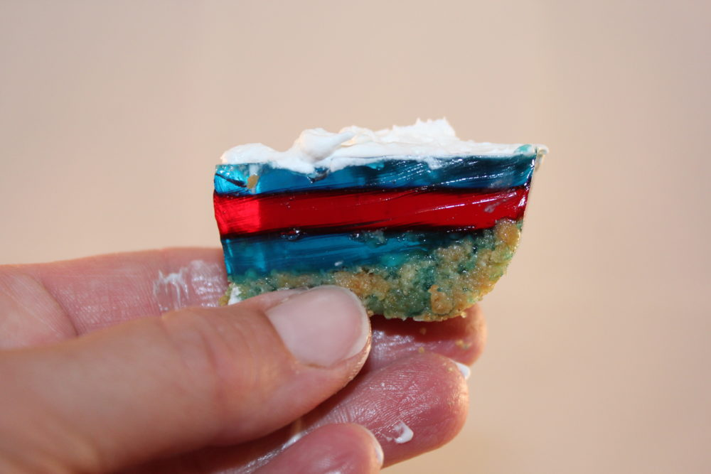 Layered Holiday No Bake Jello bars