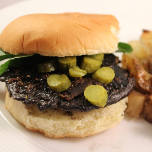 Amazing Marinating Secret Plus Marinated Balsamic Mushroom Cap Burger Recipe