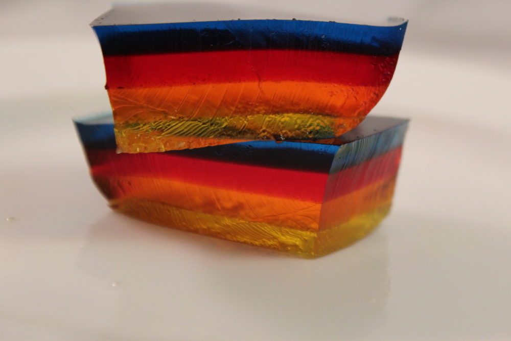 Multi Layered Jello two pieces