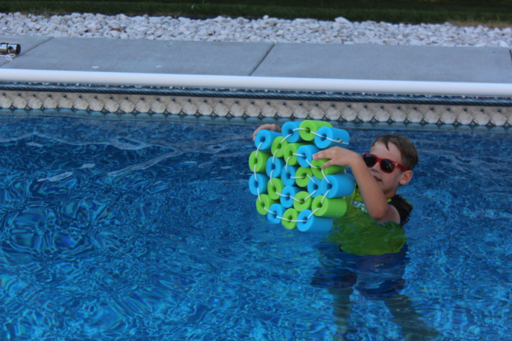 Shape Pool Noodle float strip into different shapes