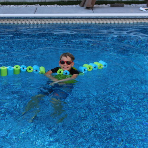 DIY Pool Noodle Float Strip