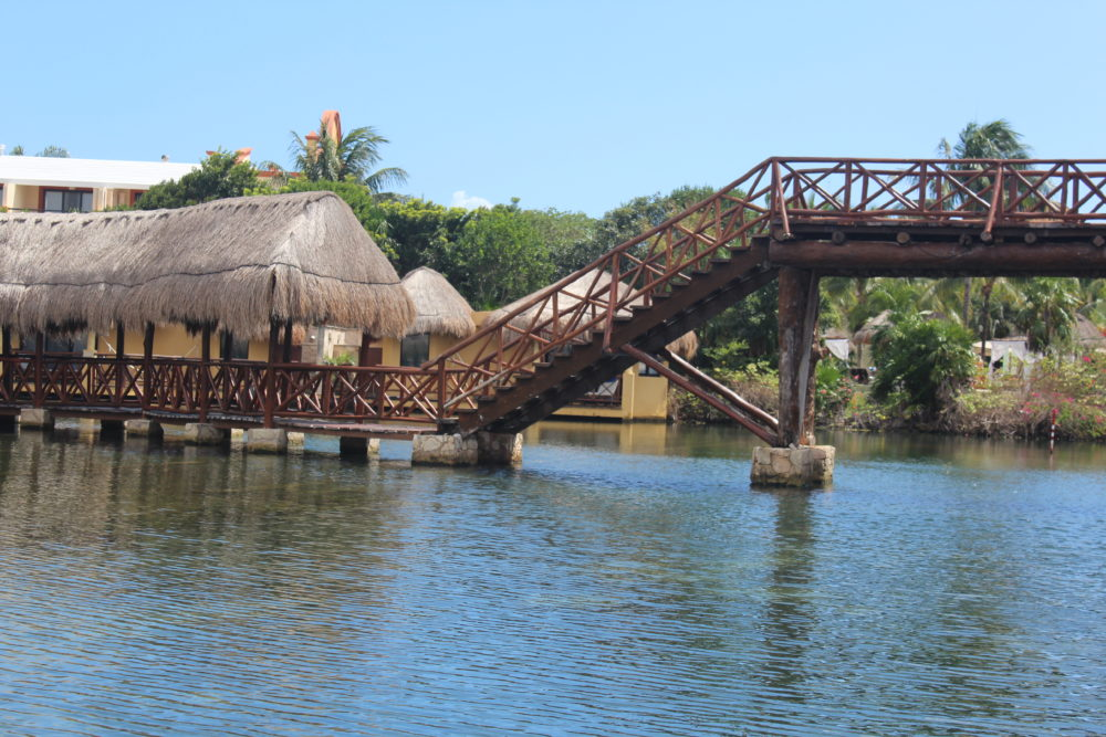 Walkways to traverse large all-inclusive resort.