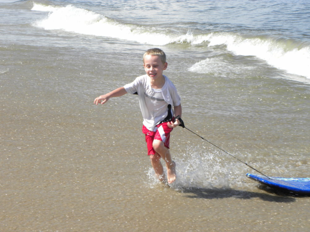 Boogie Boards at the ocean OBX