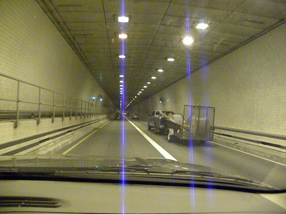Inside the Cheaspeake Bay Bridge Tunnel
