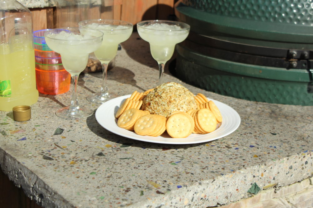 Jalapeno Chia and Pumpkin Seed Cheese Ball Outdoor grilling party appetizer recipe