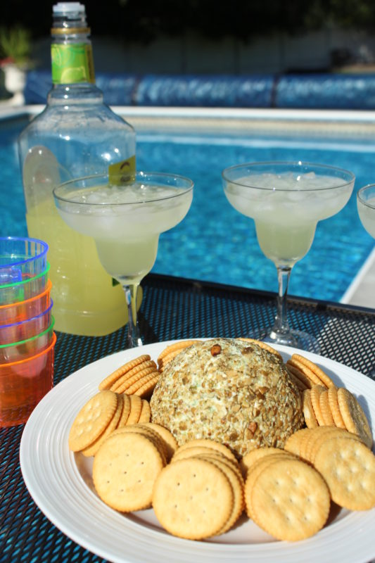 Jalapeno Chia and Pumpkin Seed Cheese Ball appetizer recipe enjoy at an outdoor grilling or pool party. Easy vegetarian recipe | healthy appetizer | easy recipes for a crowd | party appetizers | appetizers for a party | appetizers for Thanksgiving | appetizers for Christmas | appetizers for New Year's Eve