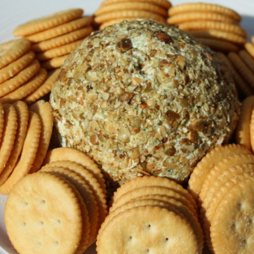 Jalapeno Chia and Pumpkin Seed Cheese Ball